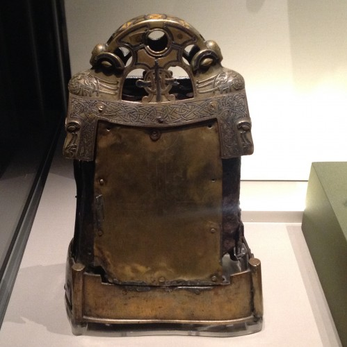 The Bell Shrine of St. Cuileáin. Iron, bronze, silver, enamel, niello (black inlay). Glankeen, Co. Tipperary, Ireland (600-1200 AD). The British Museum. Photo by Medievalists.net.