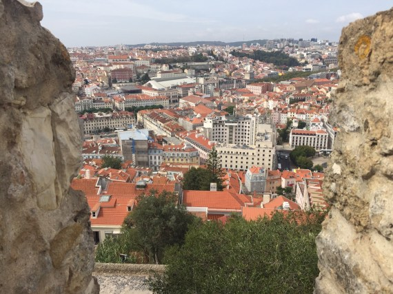 A stunning view of the picturesque city of Lisbon from one of the castle's 11 surviving towers. Photo by Medievalists.net.