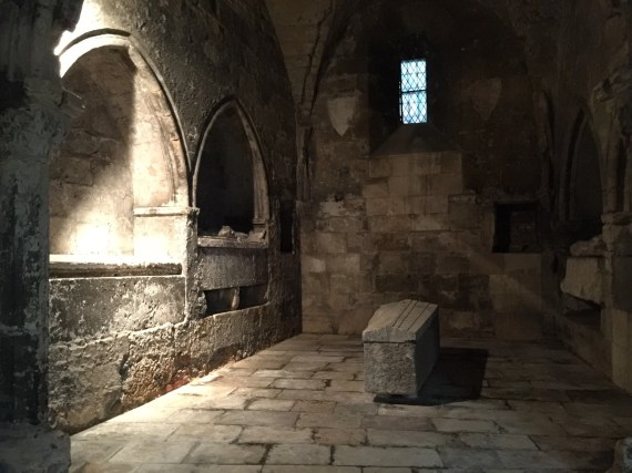 Medieval tomb in the Cloisters. Photo by Medievalists.net
