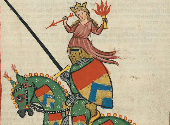 Ulrich von Liechtenstein in the Codex Manesse