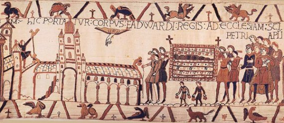 The funeral procession of Edward the Confessor as depicted on the Bayeux Tapestry
