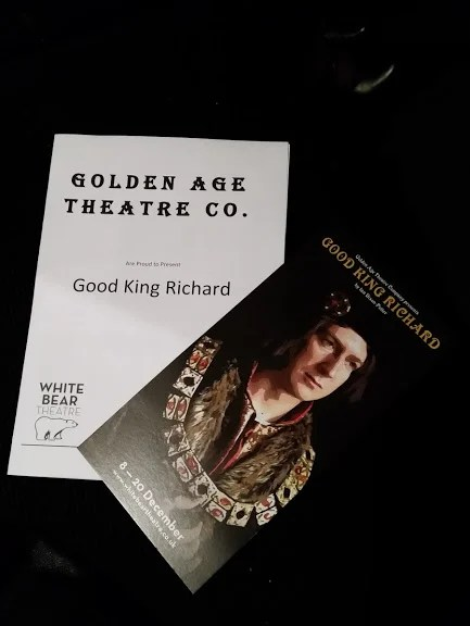 Programmes for 'Good King Richard'. Photo by Medievalists.net.