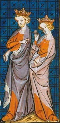 14th-century representation of Henry and Eleanor