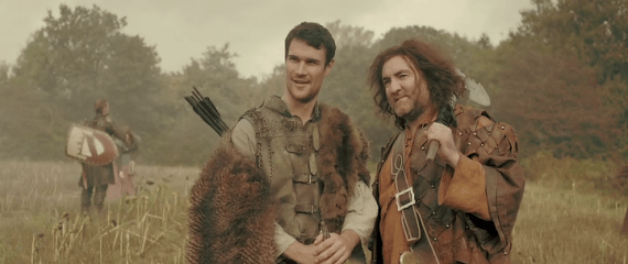 Hamish (L) and William (R) ex-Crusaders out to save a village from demons. The Four Warriors (2015)