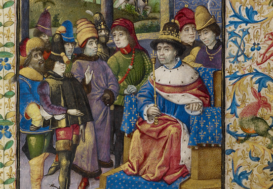 The French King at Court, about 1460 - 1470 - The J. Paul Getty Museum, Los Angeles, Ms. 68, fol. 1 - image courtesy the Paul J. Getty Trust