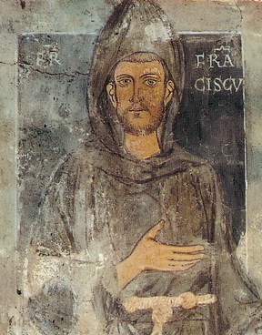 Francis of Assisi, founder of the Franciscans - this portrait dates back to 1223–1224