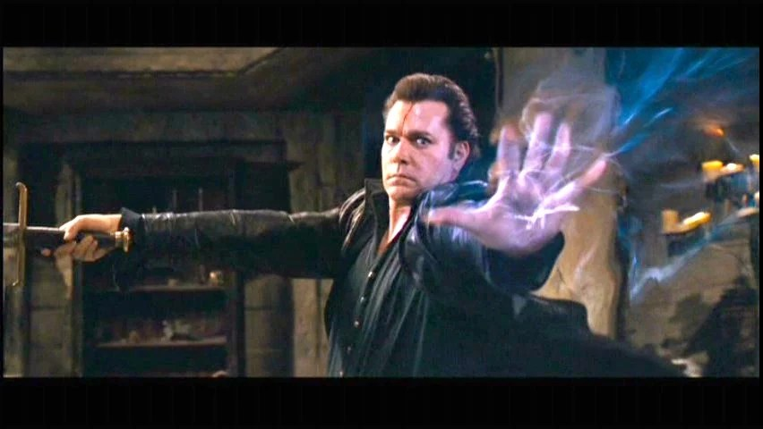 In the Name of the King: Ray Liotta as Gallian, the Mage...in ways we should never, ever, see him. This picture just about sums it all up.