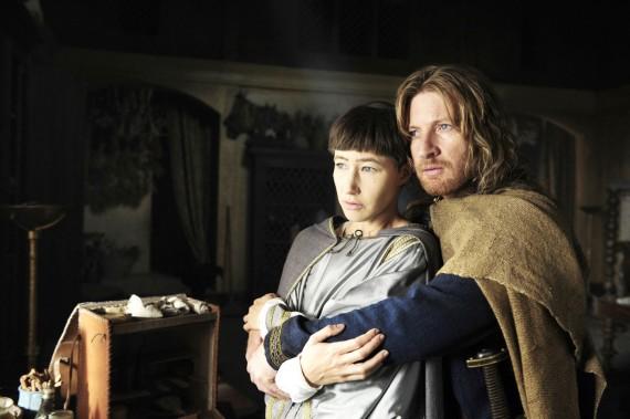 Joan (Johanna Wokalek) and her lover, Count Gerold (David Wenham). in Pope Joan. (200 Movies1Woman.com)