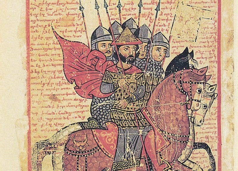 The Alexander Romance - Armenian illuminated manuscript of XIVth century of Vth century translation. Venice, San Lazzaro, 424. (Wikipedia).