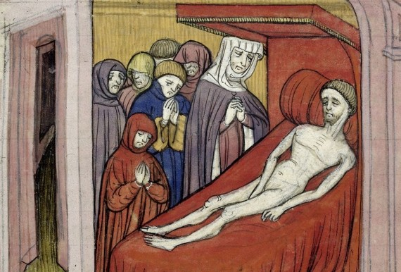 Death of Ferdinand of Castile - British Library Royal 20 C VII f.11