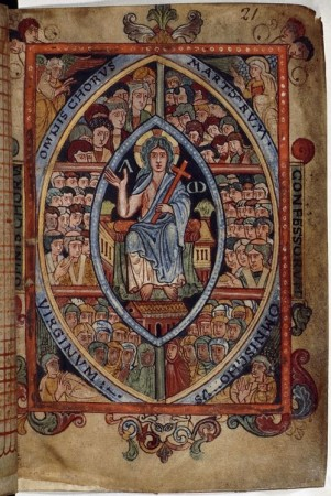 The Athelstan Psalter (London, British Library, MS Cotton Galba A XVIII, f. 21r)