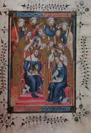 Anne of Bohemia and her husband King Richard II of England