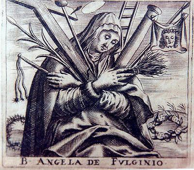 18th-century print of Angela of Foligno