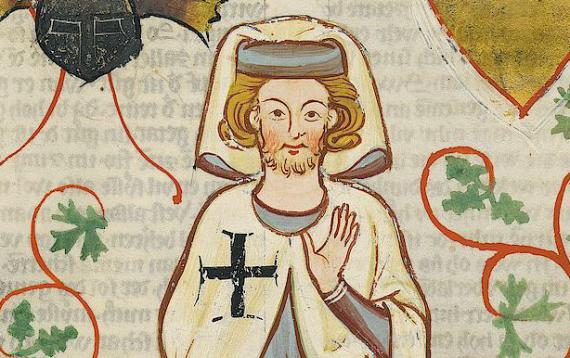 Codex Manesse, UB Heidelberg, Cod. Pal. germ. 848, fol. 264r: Der Tannhäuser