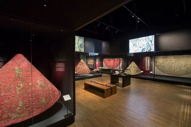Opus Anglicanum exhibit at the V&A. (c) Victoria and Albert Museum, London.