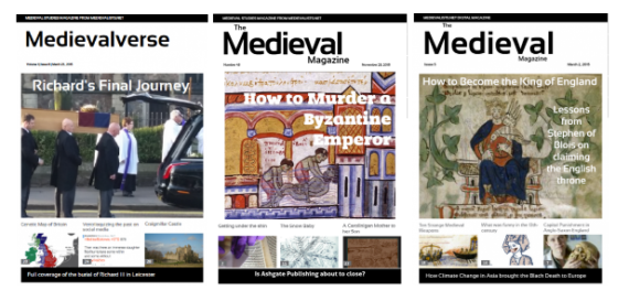 Get a five-issue bundle of the Medieval Magazine for $7.99