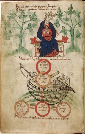 Early 14th century depiction of Henry I and the sinking of the White Ship in 1120. Royal MS 20 A II. (The British Library). http://www.bl.uk/manuscripts/Viewer.aspx?ref=royal_ms_20_a_ii_f006v
