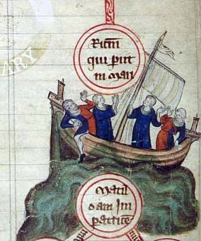The Sinking of the White Ship in the English Channel near the Normandy coast off Barfleur, on November 25, 1120. (Wikipedia)