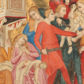 Medieval Manuscripts: The Massacre of the Innocents and Flight into Egypt in the Bible moralisée of Naples