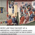 How Law Was Taught at a Medieval University