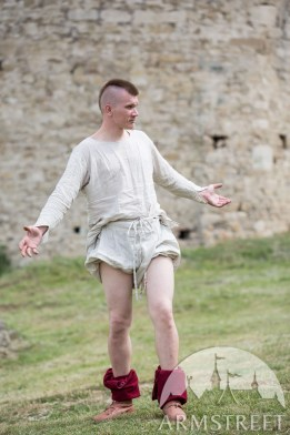 """f2e408813 A 14th century style undertunic tucked into braies. """"Medieval Men s Braies""""  by ArmStreet."""
