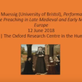 Performance and female preaching in late medieval and early modern Europe
