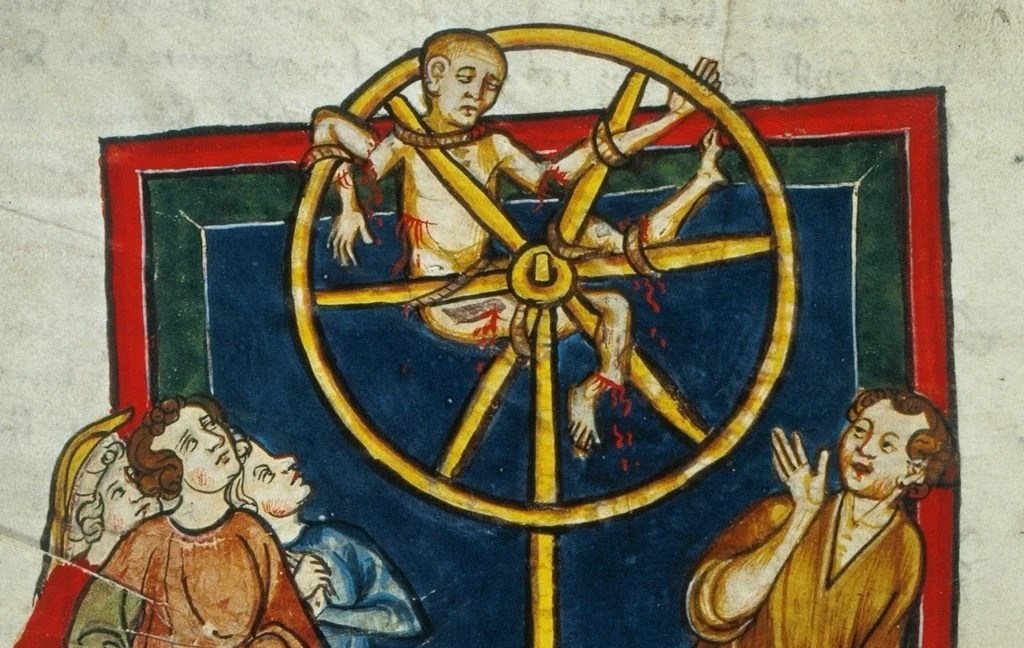 Archaeologists discover medieval man 'broken on the wheel'