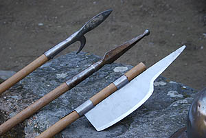 Spears (http://www.medievalwarfare.info/weapons.htm#spears)