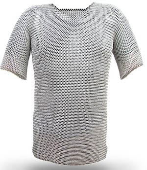 Chain mail (http://www.medievalwarfare.info/weapons.htm)