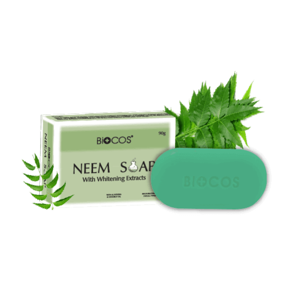 Best Biocos Neem Soap With Whitening Extract - 90g