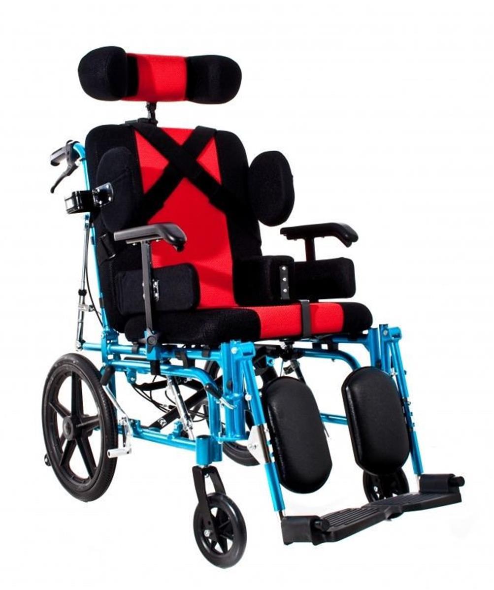 fauteuil roulant neurologique repose pieds accoudoirs et dossier reglables largeur assise 43 cm