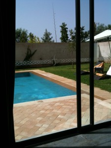Sirayane Boutique Hotel & Spa : View into the private pool area of our compound