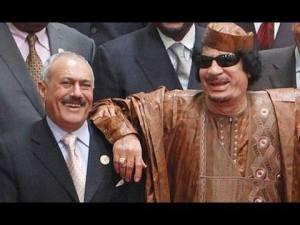 علي عبد الله صالح و معمر القذافي