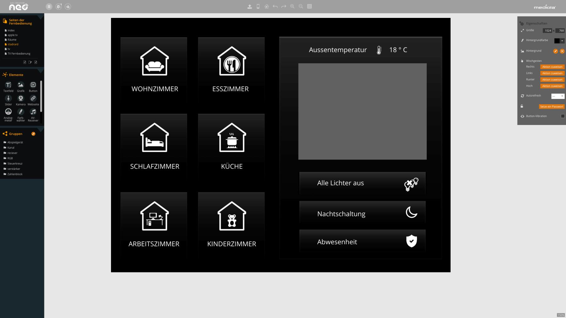 AIO Creator NEO Desktop-Ansicht