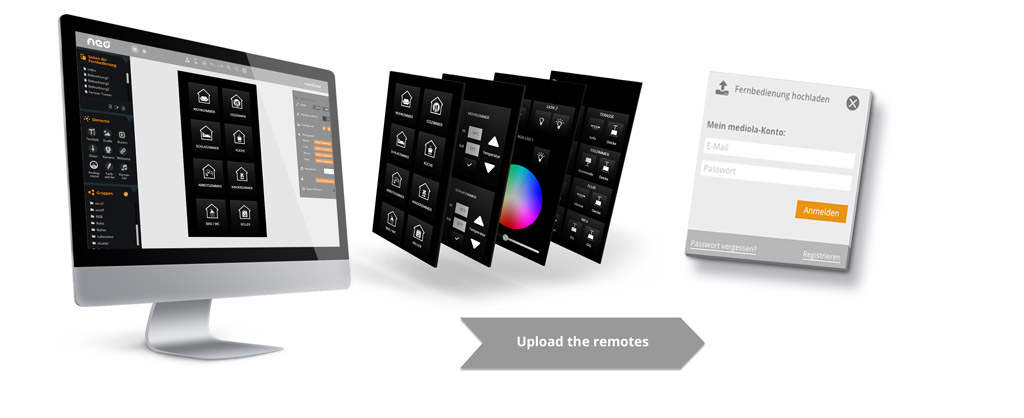 uplode the smart home remotes