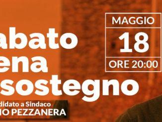 Sergio Pezzanera cena a sostegno del candidato a Spina di Marsciano