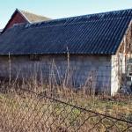 capanno con tetto in Eternit, un materiale ad alto contenuto di amianto