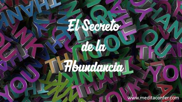 El secreto de la abundancia.
