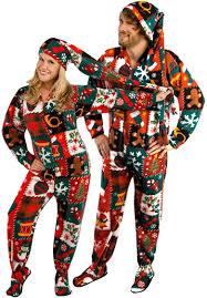 couple in xmas pajamas