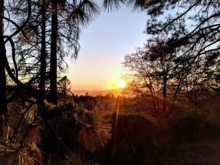 Sunset overlooking Bald Mountain Trail