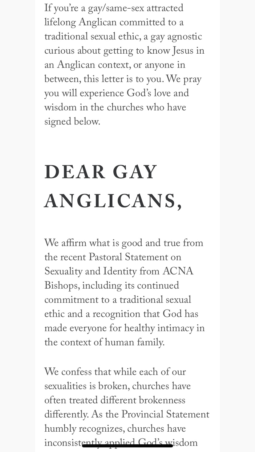 """""""Dear Gay Anglicans"""" page 2"""