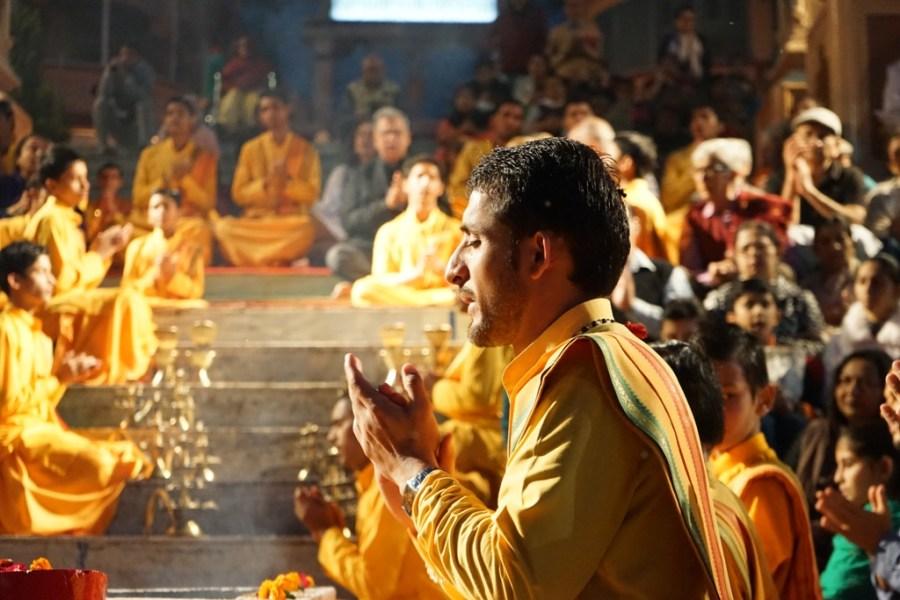 Ganga Aarti At Parmarth Niketan ashram Rishikesh Uttarakhand