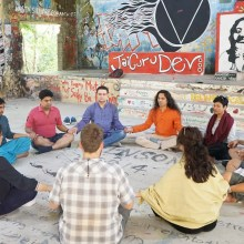Out Door Meditation Session Near Maharishi Mahesh Yogi Beatles Ashram