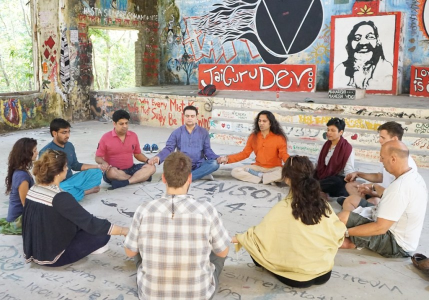 Meditation At Maharishi Mahesh Yogi Beatles Ashram Rishikesh With Shiva Girish