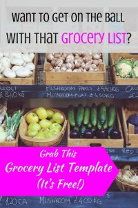 You'll Be On the Ball With This Free Grocery List Template. We all dread making a grocery list. But what if it was already halfway done? This free grocery list template will do just the trick!