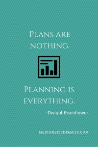 Plans are nothing. Planning is everything.