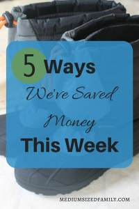 5 Ways We've Saved Money This Week (1)