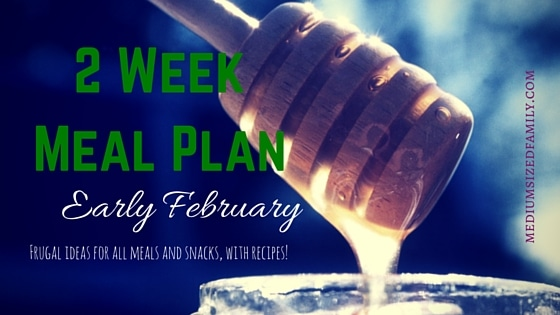 2 Week Meal Plan for Early February