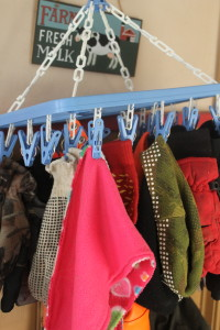 Organize winter accessories, Winter accessories storage