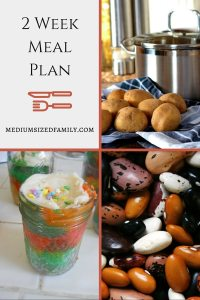 2 Week Frugal Meal Plan with All Meals, Snacks, and Recipes